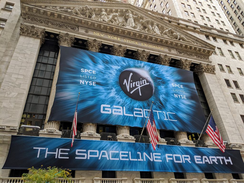 Virgin Galactic zadebiutowała na Wall Street pod koniec października 2019 r.