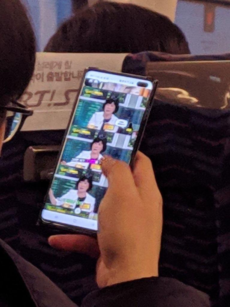 Zdjęcie mogące przedstawiać Samsunga Galaxy S10 Plus przed premierą