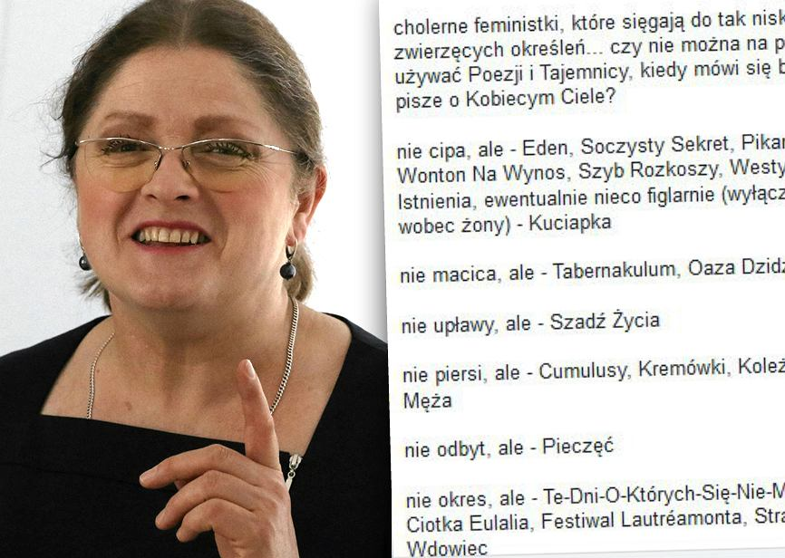 Ironiczne podejście do przemyśleń Krystyny Pawłowicz