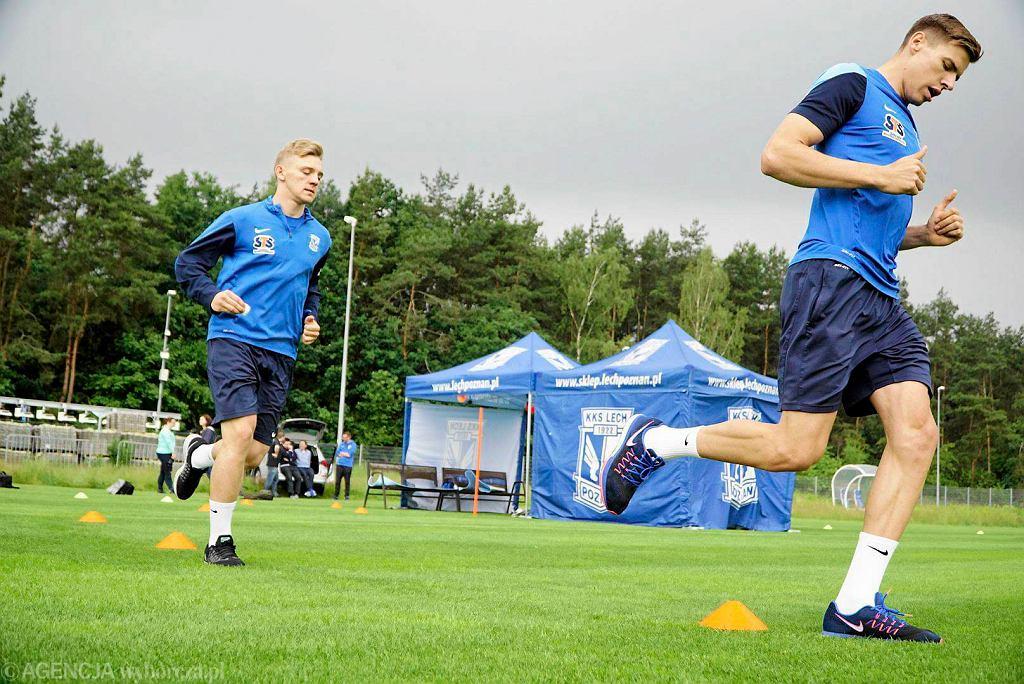 Badania wydolnościowe piłkarzy Lecha Poznań. jan Bednarek i Kamil Jóźwiak