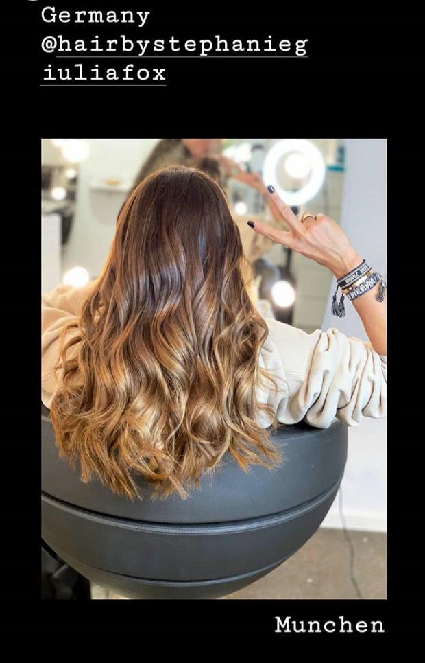Odświeżona fryzura Ani Lewandowskiej
