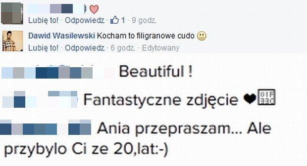 Komentarze pod zdjęciem Ani Piszczałki
