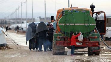 Obóz dla syryjskich uchodźców w jordańskim mieście Mafraq