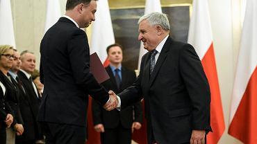 Kazimierz Kujda powoływany przez prezydenta do Narodowej Rady Rozwoju. Warszawa, 16 października 2015