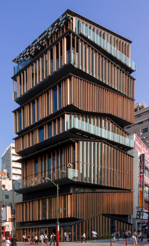 Jedna z realizacji Kengo Kumy - Centrum Kultury Asakusa w Tokio