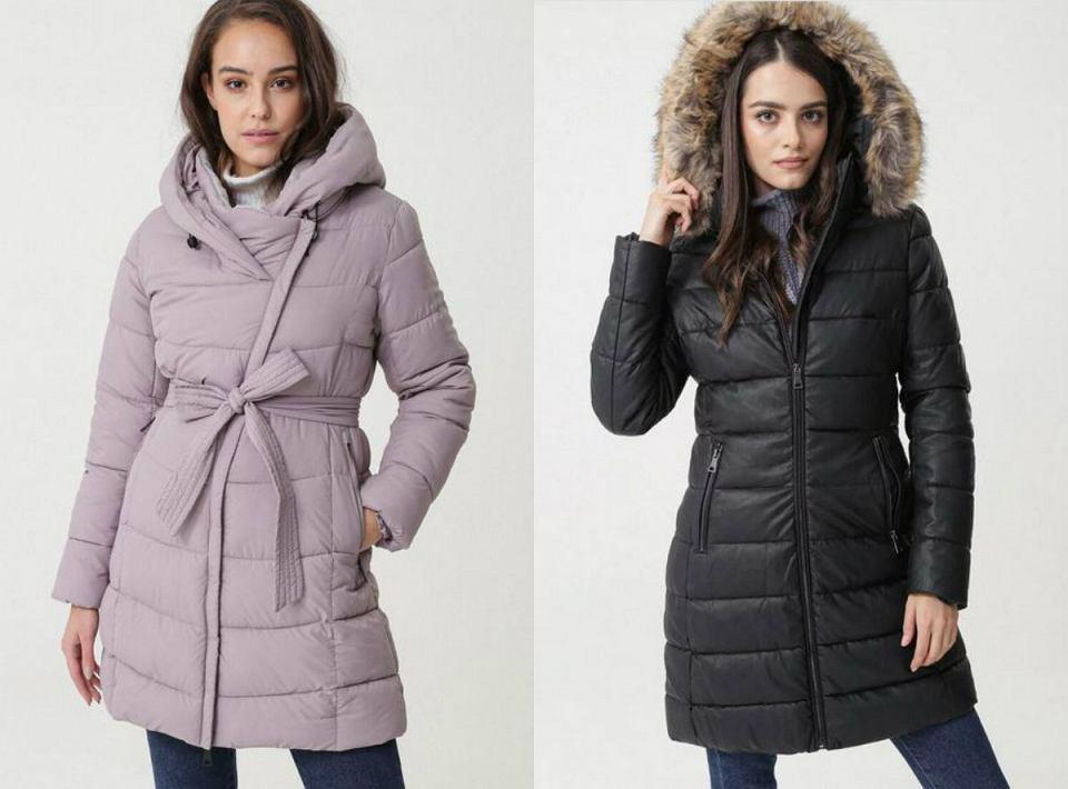 Pikowane kurtki długie