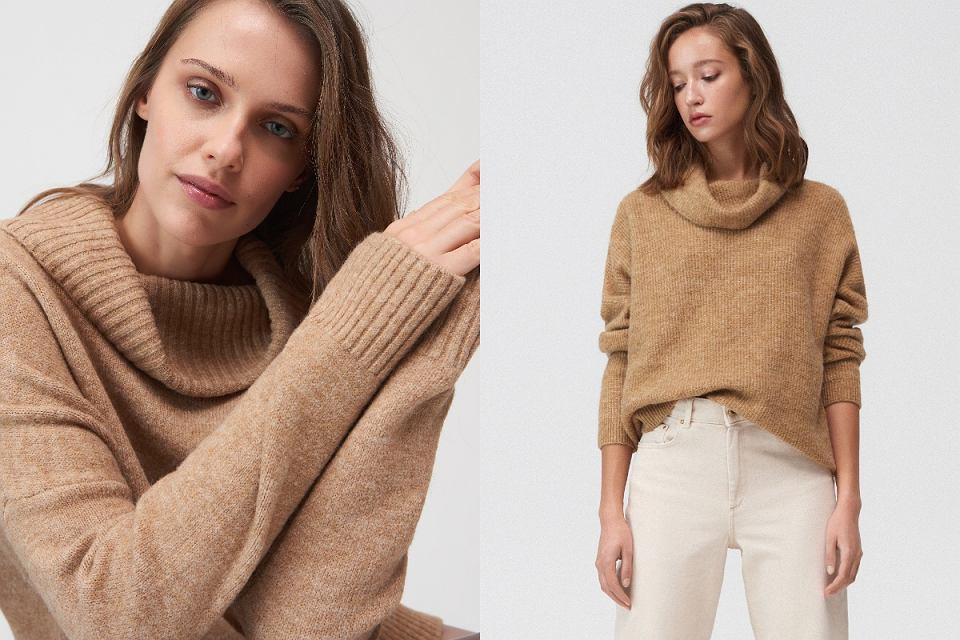 Beżowe swetry