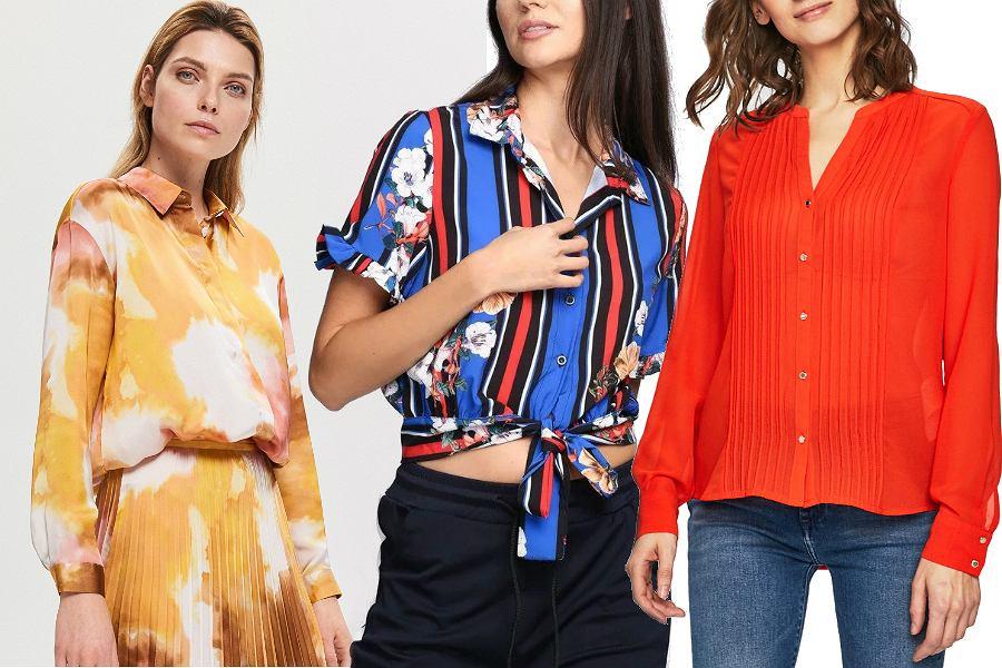 Kolorowe koszule na wiosnę