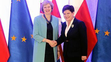 Lipiec 2016, spotkanie premier May z premier Szydło w Warszawie
