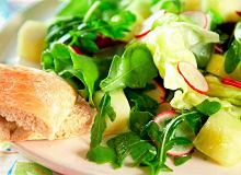 Sałatka z melona, rzodkiewki i mieszanych sałat - ugotuj