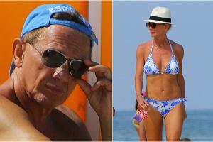 Beata Ścibakówna dość często pojawia się na plaży, co chętnie uwieczniają na zdjęciach paparazzi. Nic dziwnego, bo 48-latka ma boską figurę i w bikini wygląda po prostu świetnie. Rzadko jednak na plaży towarzyszy jej mąż, Jan Englert, ale tym razem zrobił wyjątek. I bardzo dobrze, bo 73-letni aktor prezentuje się znakomicie. Widać, że fascynacja sportem się opłaciła!