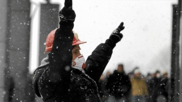 Górniczy protest przed siedzibą JSW