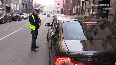 Policjanci sprawdzali prędkość samochodów w centrum Katowic