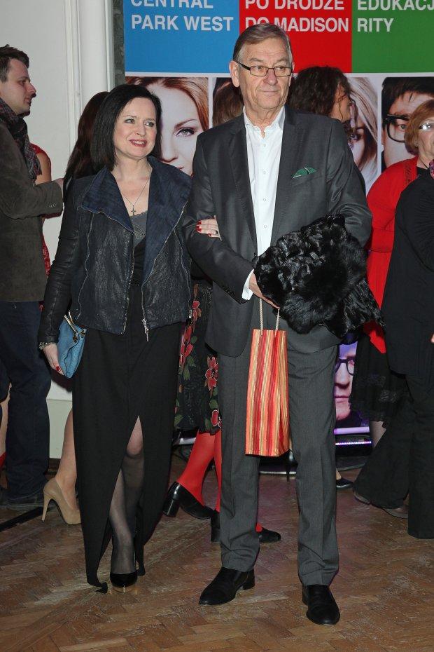 Jolanta Fajkowską z mężem