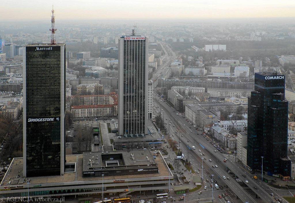 Nowe wieżowce są planowane w sąsiedztwie hotelu Marriott, m.in. u zbiegu Al. Jerozolimskich i ul. Chałubińskiego / FRANCISZEK MAZUR