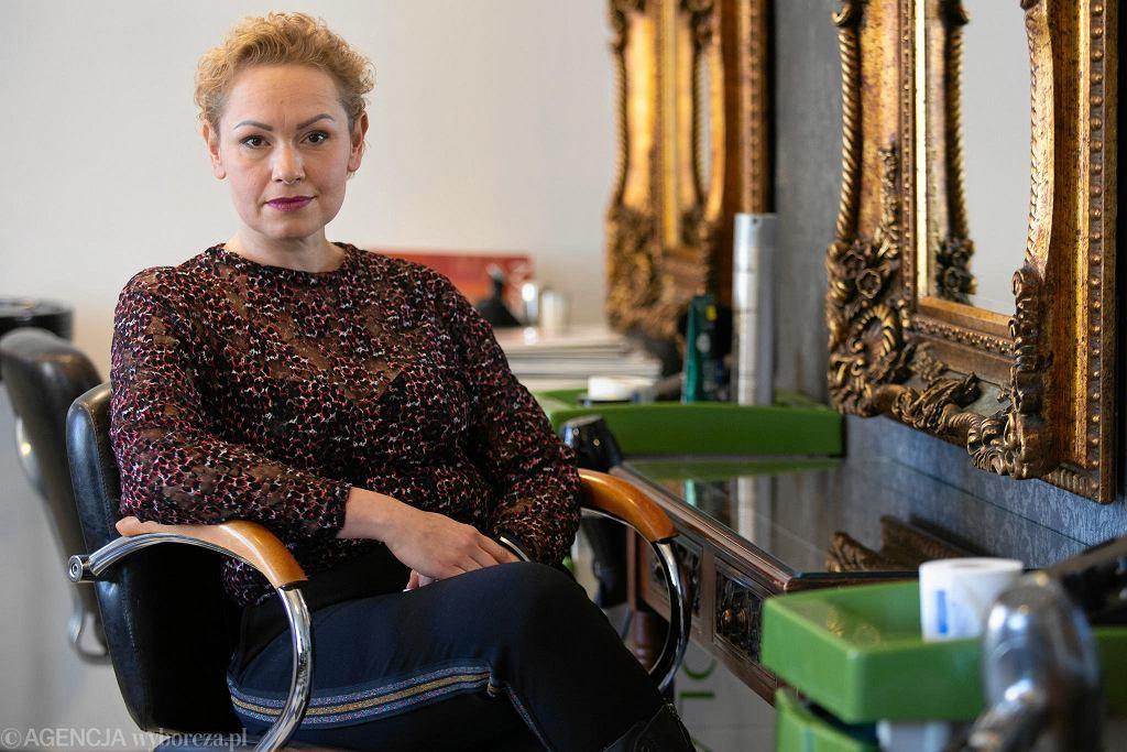 Ewelina Ziółkowska prowadzi salon fryzjerski na bydgoskim Górzyskowie