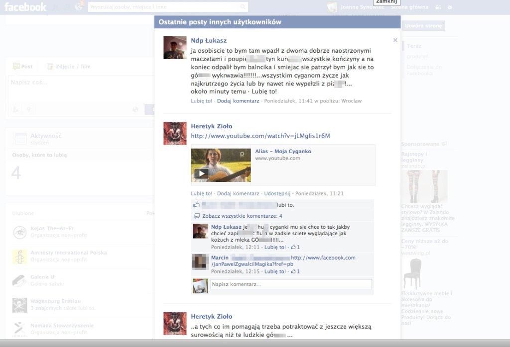 Komentarze na FB
