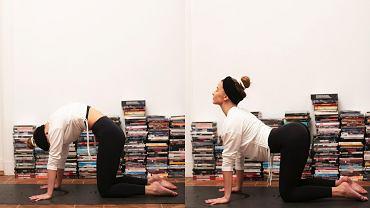 Julia Wieniawa ćwiczy jogę