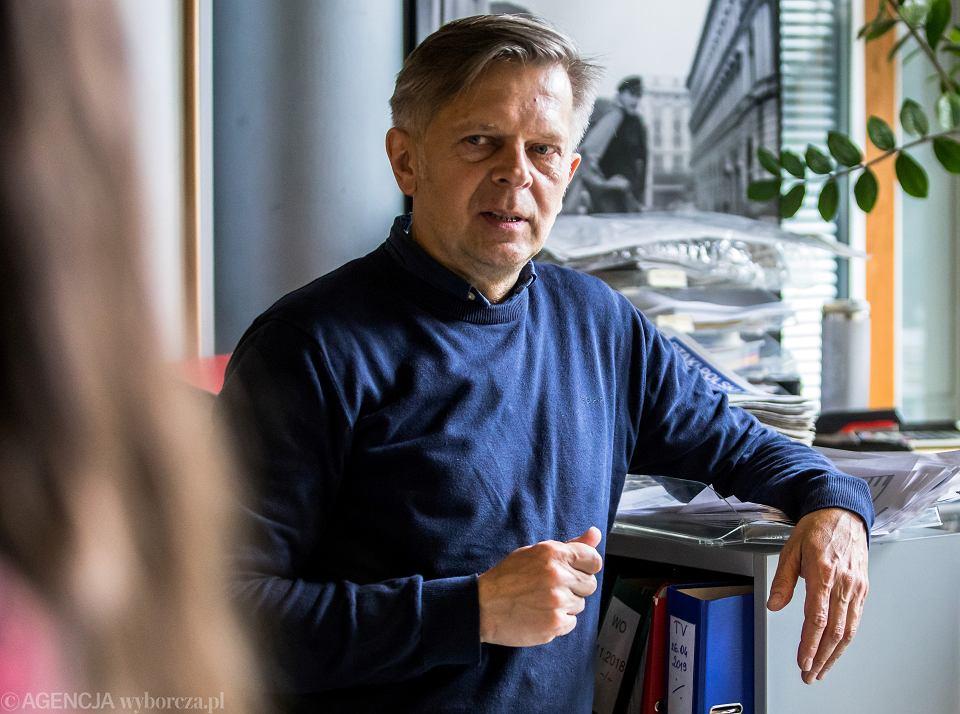 Sławomir Kamiński, fotoreporter, w redakcji 'Gazety Wyborczej'