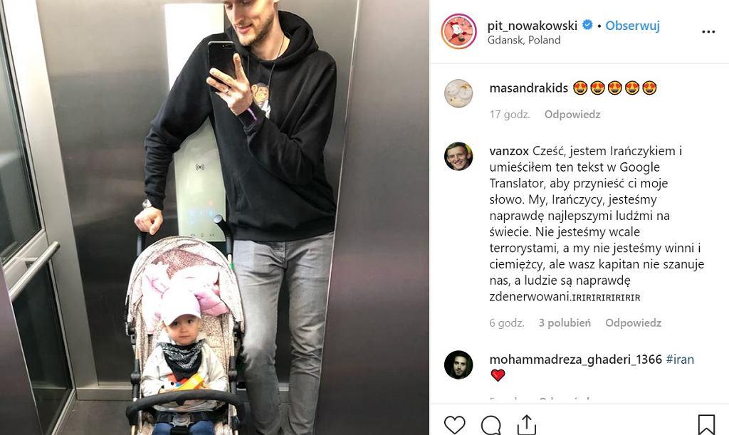 Instagram Piotra Nowakowskiego, screen