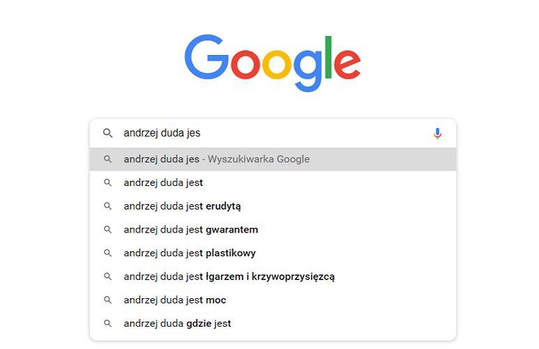 Autopodpowiedzi Andrzej Duda