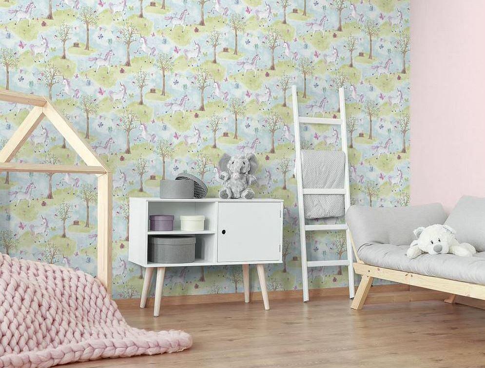 Tapeta w jednorożce do pokoju dziecięcego