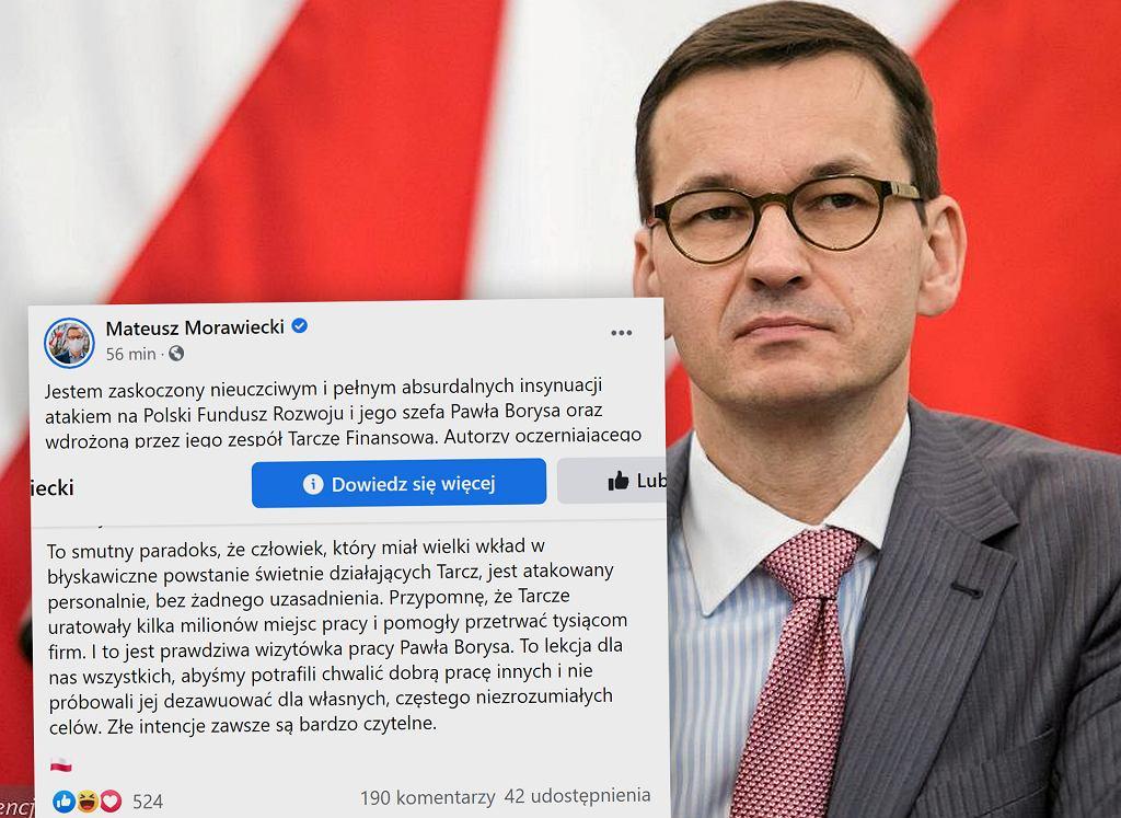 Mateusz Morawiecki wydał oświadczenie