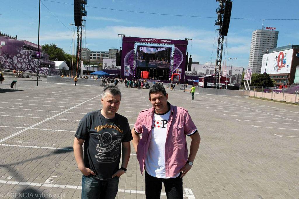 Marek Magiera i Grzegorz Kułaga, wodzireje podczas meczów Polaków na mistrzostwach świata