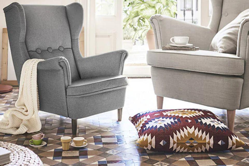 Szare fotele uszaki to wygodne i stylowe dodatki IKEA. Teraz dostępne są w dwóch rozmiarach - dla dzieci i dorosłych.
