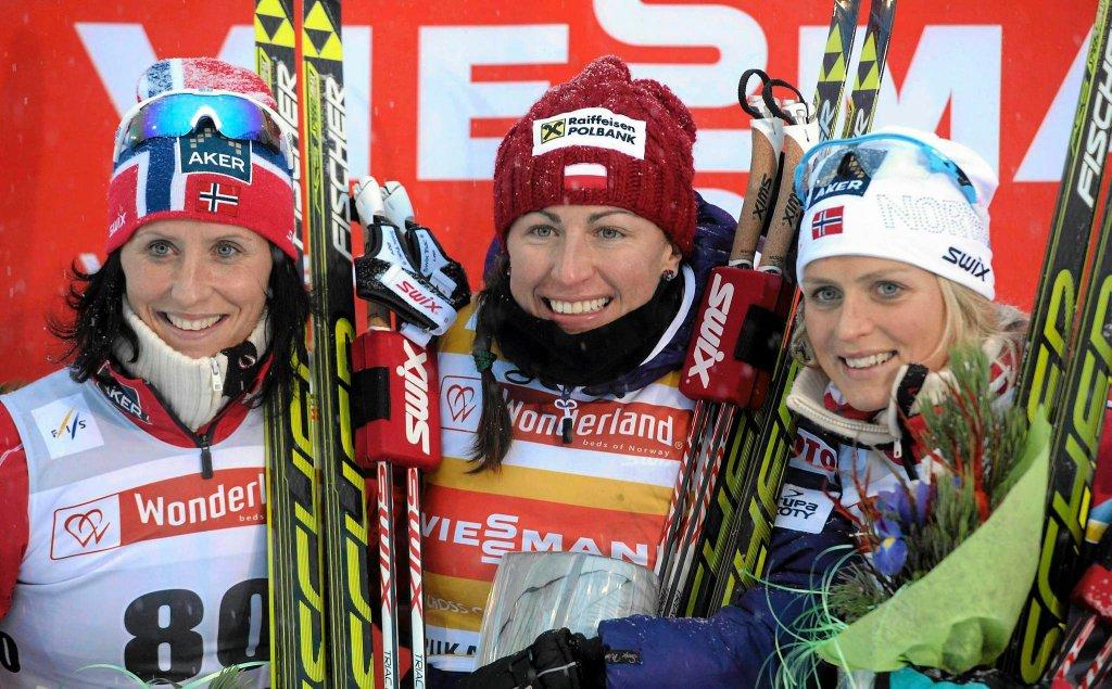 Marit Bjoergen, Justyna Kowalczyk i Therese Johaug