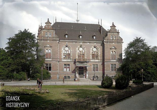 Zdjęcie numer 5 w galerii - Zdjęcia przedwojennego i powojennego Gdańska w kolorze. Zieleń drzew i czerwone cegły Bazyliki Mariackiej
