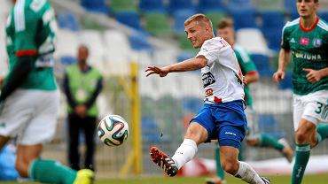 Maciej Iwański w meczu Podbeskidzia