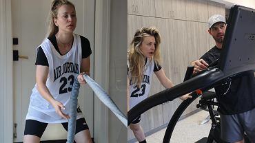 Kaley Cuoco pokazała ćwiczenia z trenerem personalnym