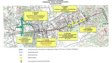 Uwaga kierowcy1 Kolejne utrudnienia w związku z przebudową ulicy Cieszyńskiej