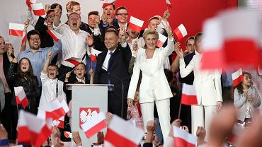 Wybory prezydenckie 2020. Wieczór wyborczy Andrzeja Dudy