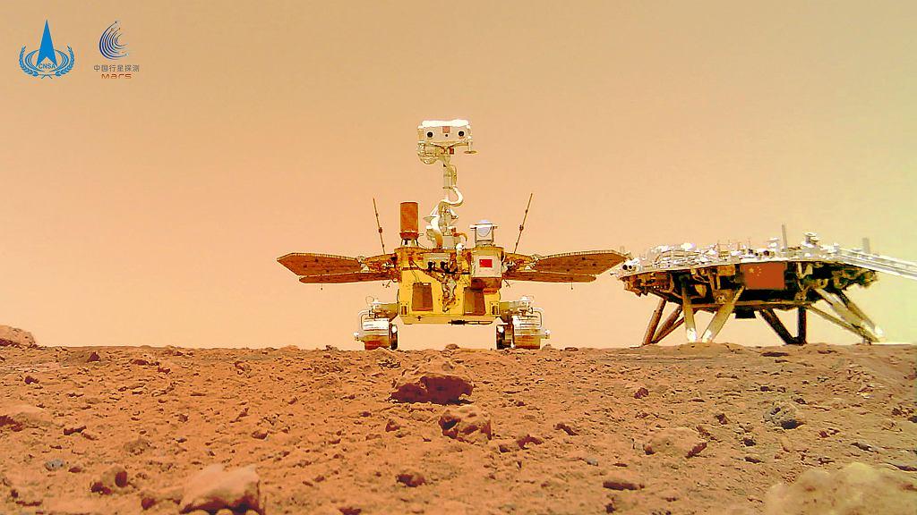 Zdjęcie chińskiego łazika i lądowania na Marsie