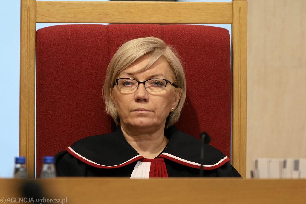 Prezes TK Julia Przyłębska podczas rozprawy dot. nowelizacjii ustawy o Trybunale Konstytucyjnym. Warszawa, 8 marca 2016