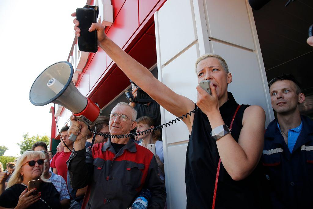 Maryja Kalesnikava na proteście w Mińsku, 17 sierpnia 2020 r. Prokuratura wszczęła wobec niej postępowanie karne, grozi jej do 5 lat więzienia