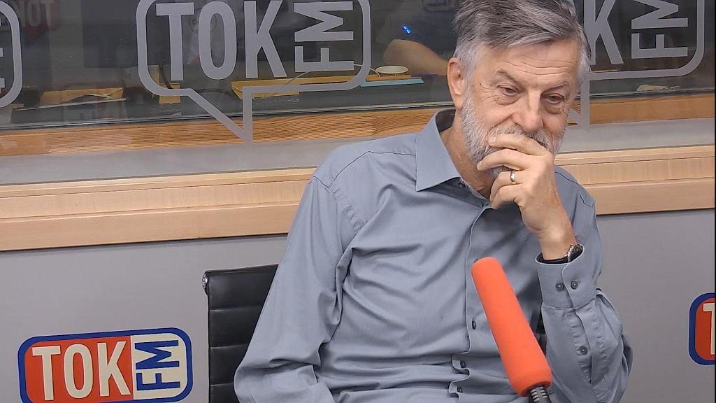 Prof. Andrzej Zybertowicz w studiu TOK FM.