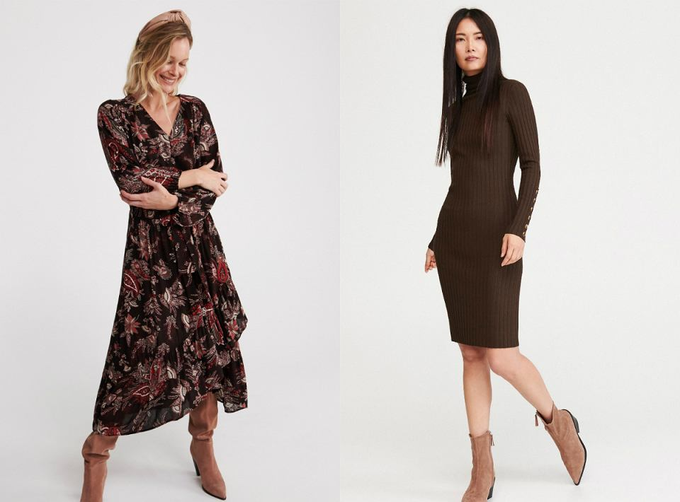 Sukienki w odcieniu brązu