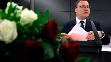 Posiedzenie Senackiej Komisji Budżetu i Finansów w sprawie Komisji Nadzoru Finansowego. Senator Grzegorz Bierecki.
