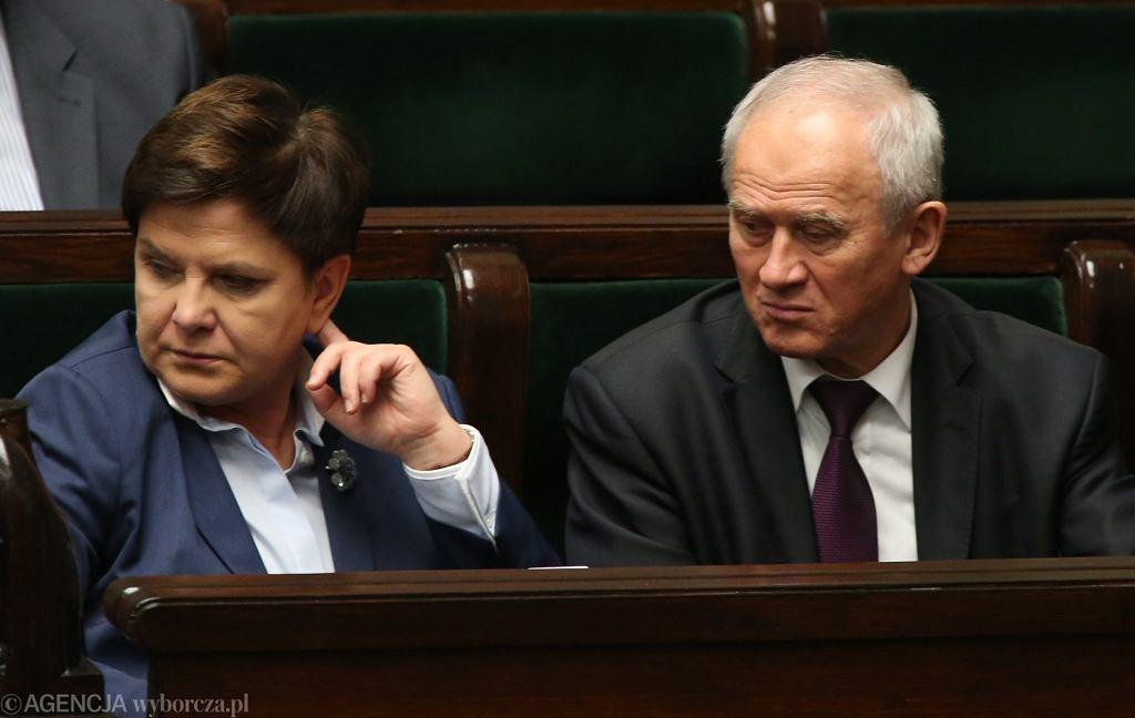 Beata Szydło i Krzysztof Tchórzewski