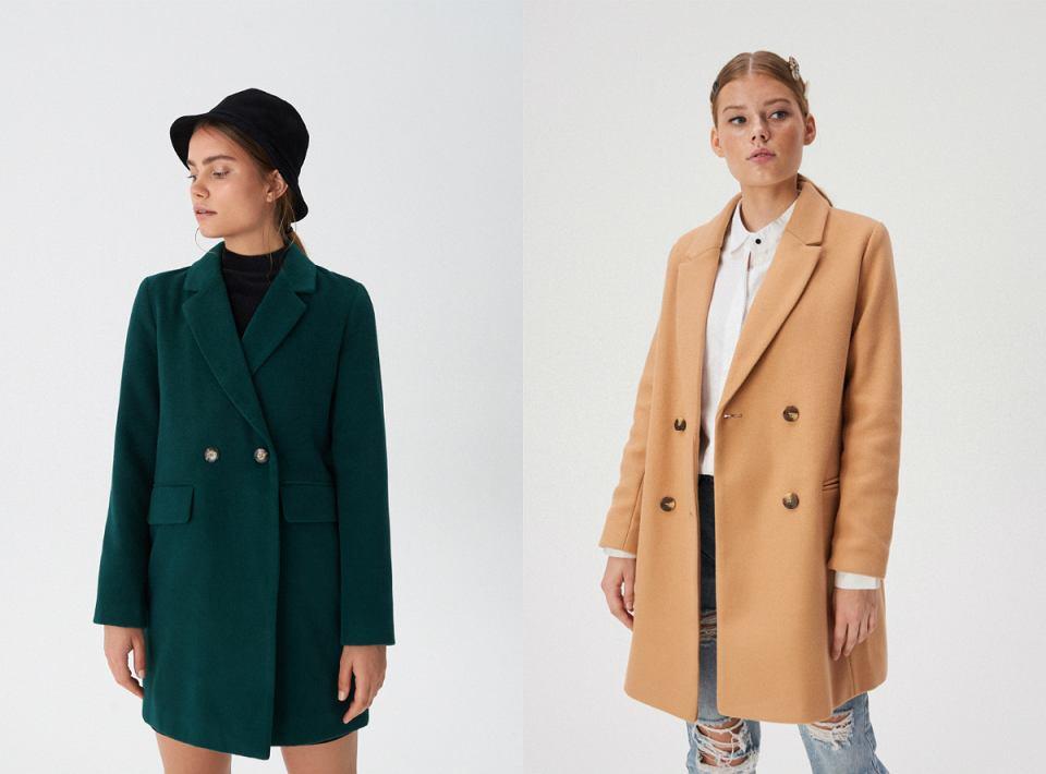 Dwurzędowe płaszcze - dla niskich kobiet