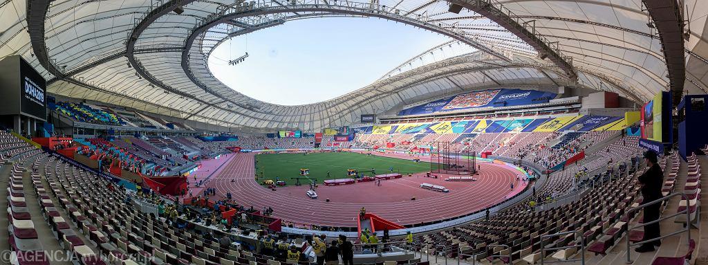 Przez pierwsze sześć dni na mogący pomieścić 50 tys. widzów stadion Chalifa ani razu nie przyszło nawet 20 tys. kibiców. Mistrzostwa Świata w Lekkoatletyce Doha 2019. Katar, 27 września 2019