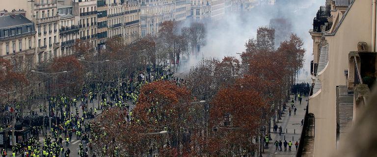 Protest ''żółtych kamizelek''. Setki zatrzymanych w Paryżu. Gorąco w Belgii
