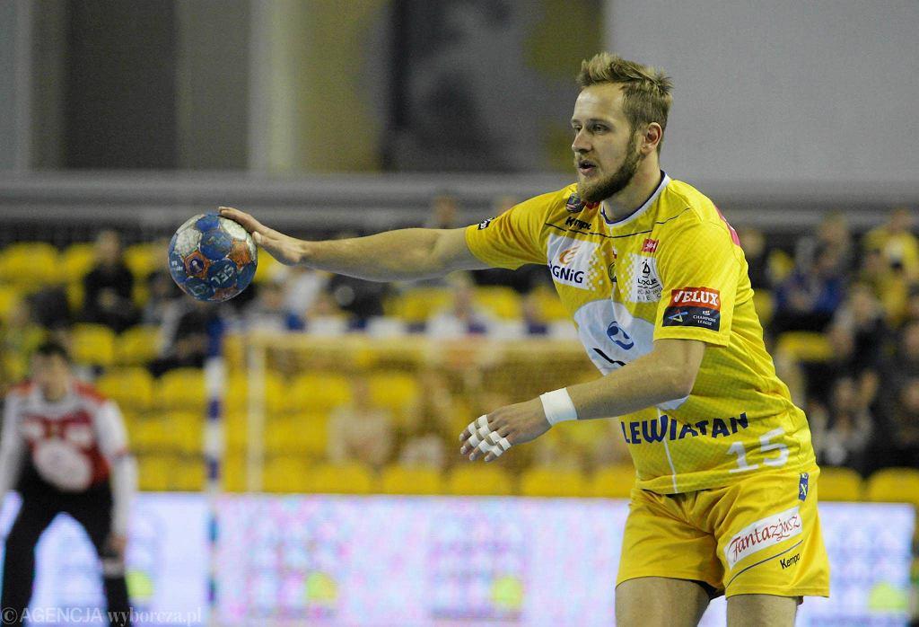Mateusz Jachlewski podczas meczu Vive Tauron Kielce - Azoty Puławy