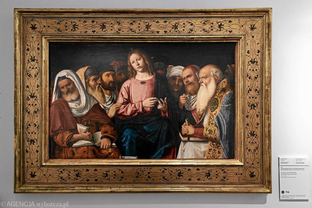 / GIOVANNI BATTISTA CIMA DA CONEGLLIANO  'DWUNASTOLETNI JEZUS NAUCZAJĄCY W ŚWIĄTYNI' DAWID ŻUCHOWICZ