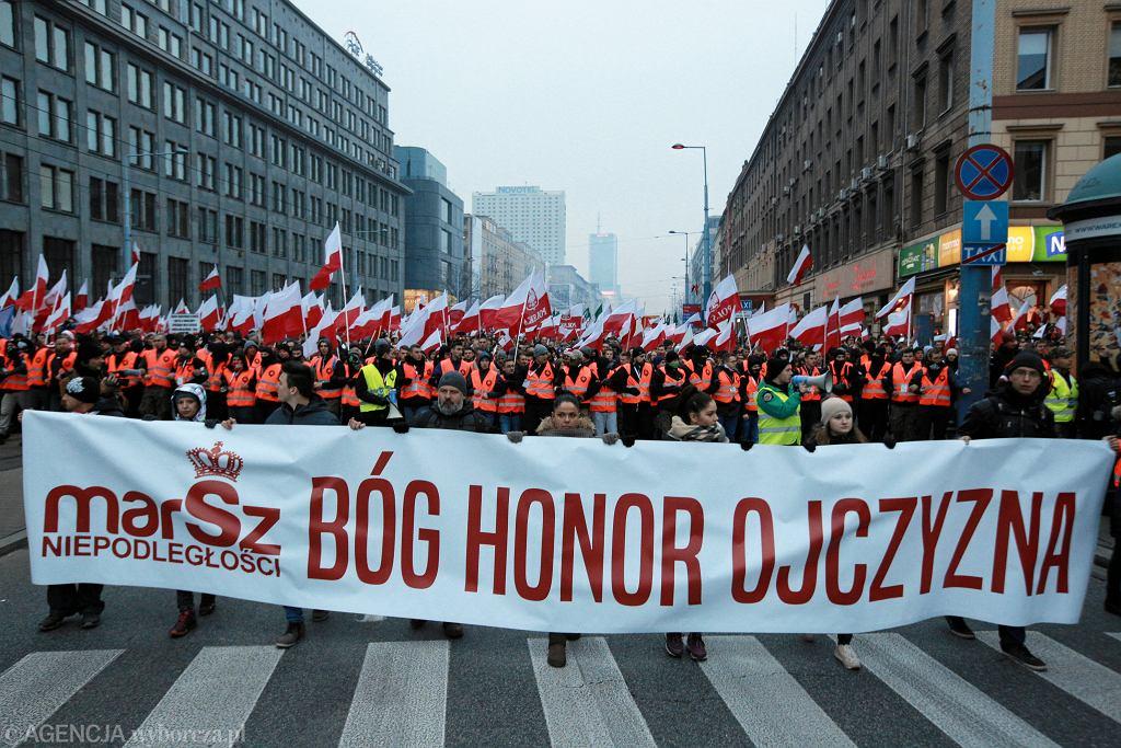 Marsz Niepodleglosci w Warszawie w 2018 roku