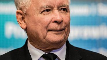Jarosław Kaczyński podczas spotkania z elektoratem. Krosno, 6 października 2018