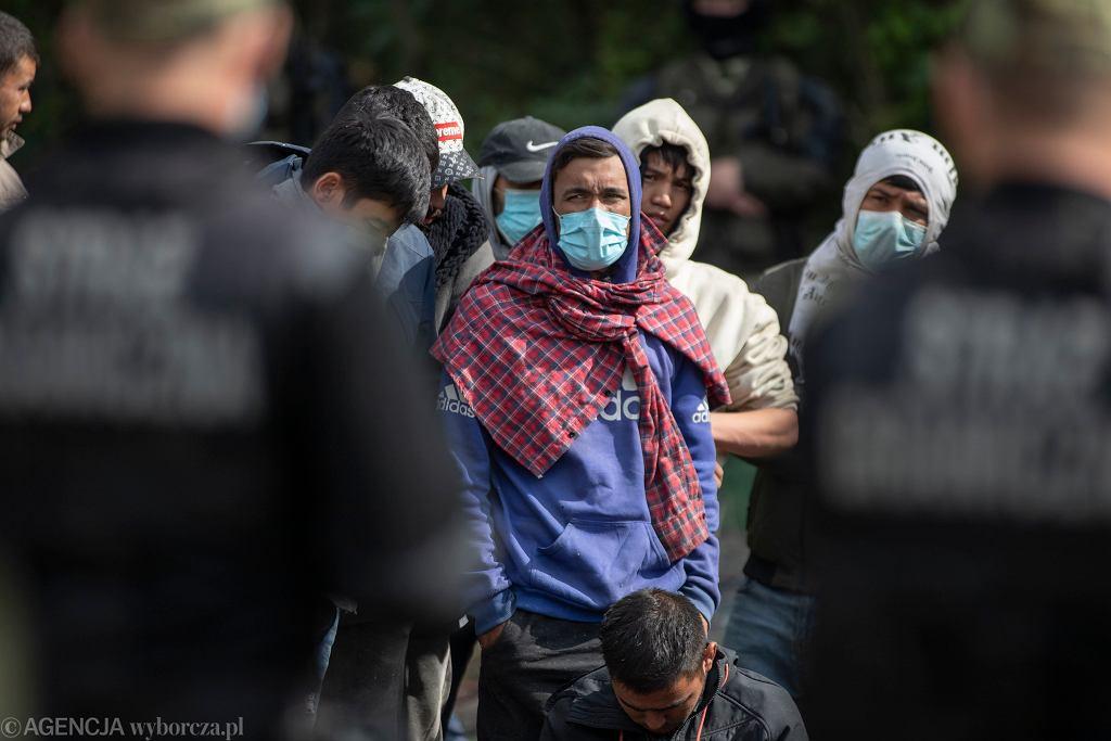 Migranci na granicy polsko - białoruskiej w Usnarzu Górnym (19.08.2021)